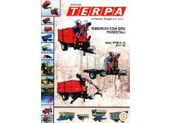 Rimorchio con gru forestale Terpa Nuovo