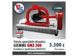 Trincia spostabile idraulica Giemme GMZ 200 Nuovo