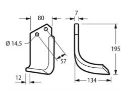 LINEA BLU ZAPPA TIPO CELLI E-F-HV-HF ARCO-ELICOIDALE 80X7