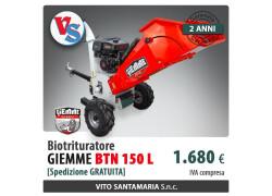 Biotrituratore Giemme BTN 150 L Nuovo
